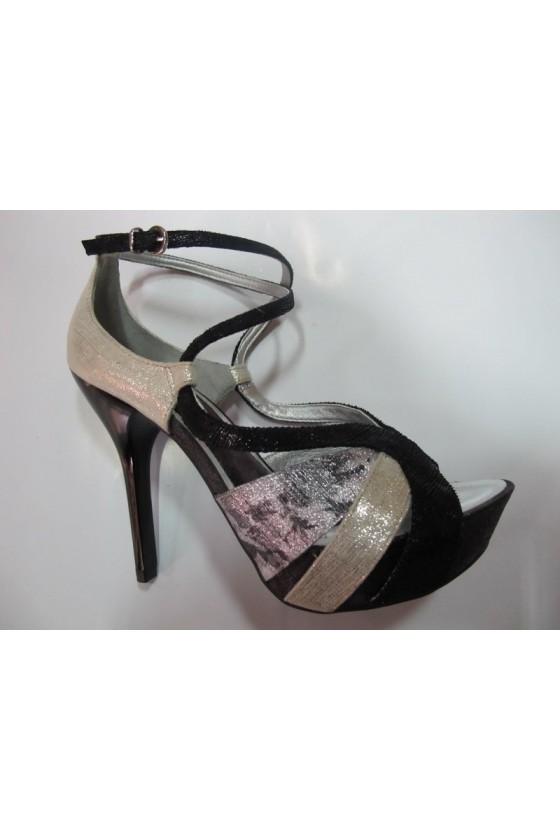 Дамски обувки 1066206blk-gold-sil