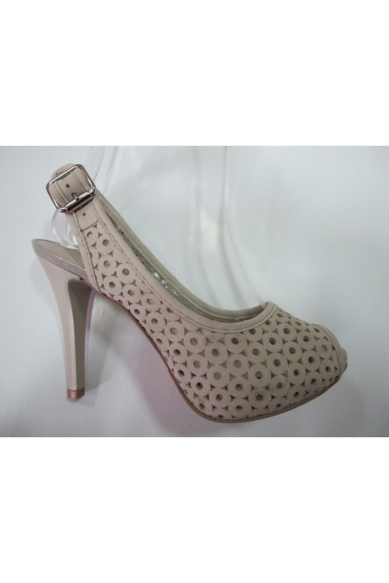 Дамски обувки 133703.offwhite estestvena koja