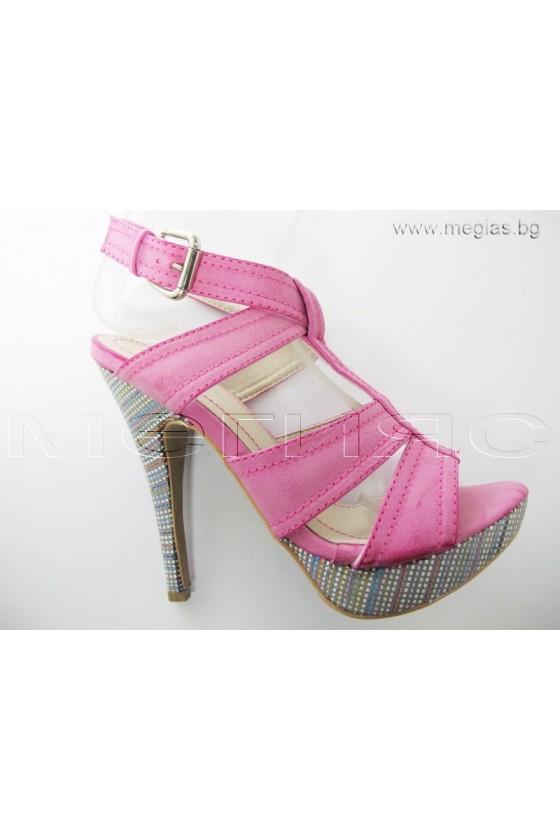 Дамски сандали may12-51fushia
