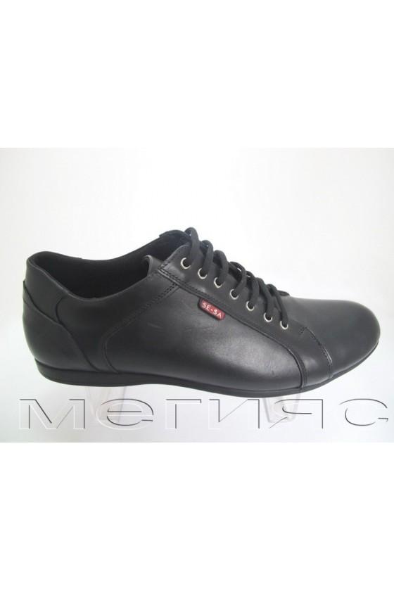 Мъжки обувки гигант XXL 160 черни естествена кожа