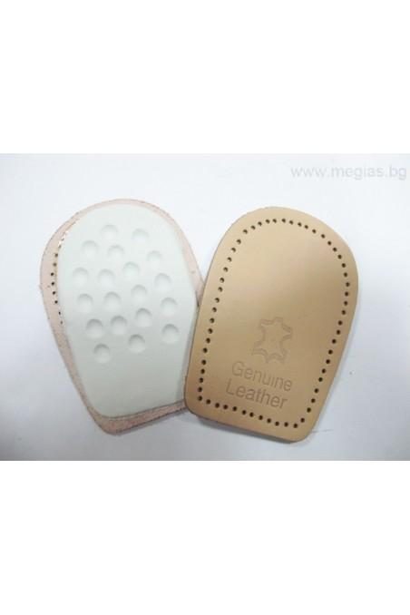 Стелки за обувки - подложка за пети естествена кожа 2002-M