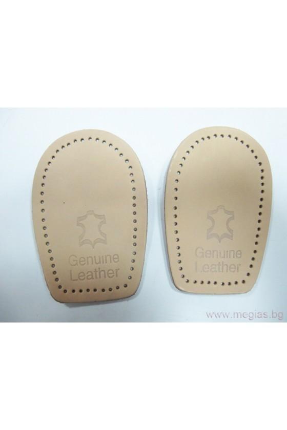 Стелки за обувки - подложка за пети естествена кожа 2002-W