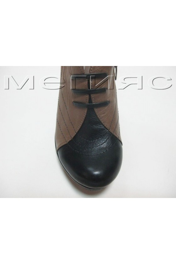 Дамски обувки 54-400 blk-khaki estestvena koja