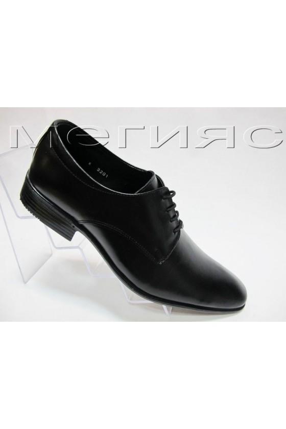 Мъжки обувки Фантазия 3201 черни естествена кожа