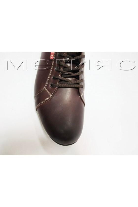 Мъжки обувки гигант XXL160 кафяви от естествена кожа