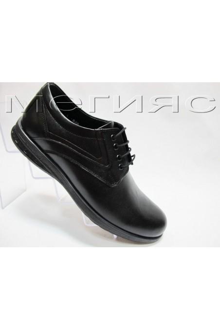 Мъжки обувки Фантазия 900 черни от естествена кожа