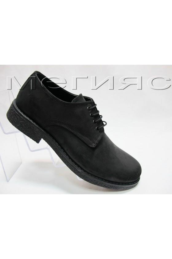 Мъжки обувки Фантазия 403 черни набук естествена кожа