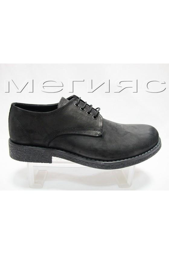 Мъжки обувки Fant.403 black nabuk estestvena koja