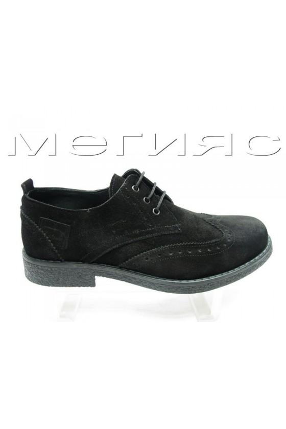 Мъжки обувки Фантазия 405 черни естествен велур