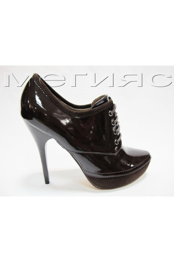 Дамски обувки Shirley 13-5590 brown lak