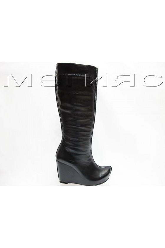 Дамски ботуши 160-453 черни естествена кожа