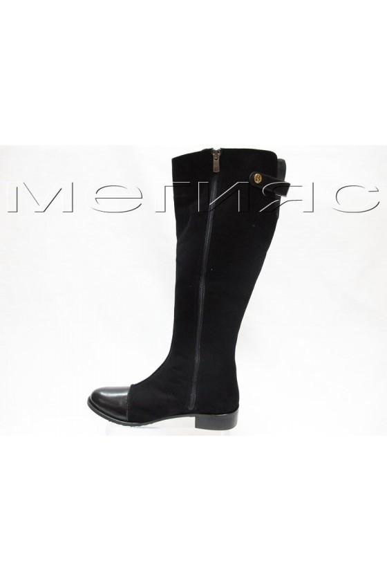 Дамски ботуши 160-5814 черни естествена кожа