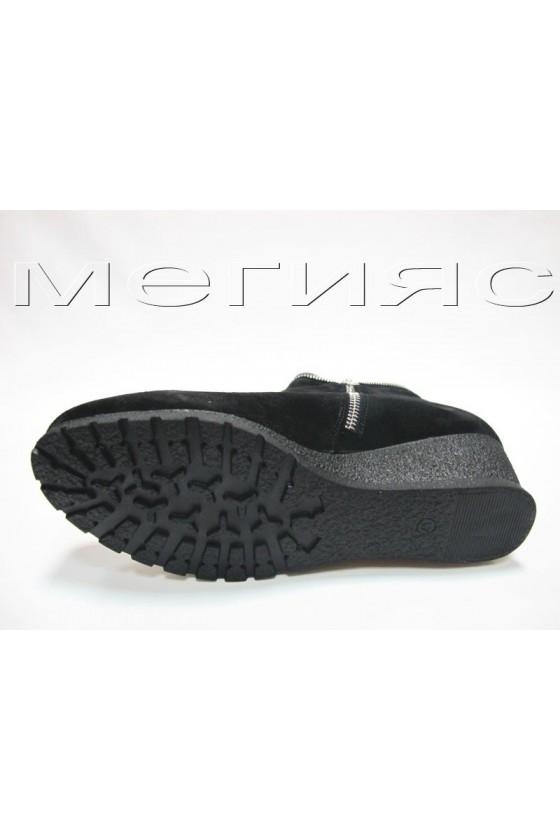 Дамски боти  XXL 65-11 черен естествен велур
