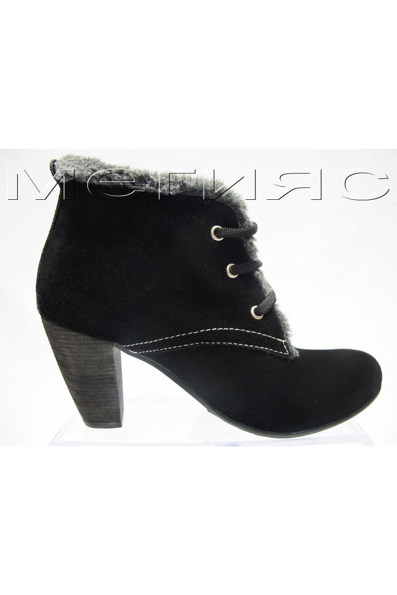 dam.bota 111 black estestven velur