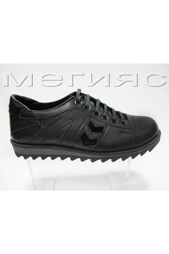 Мъжки обувки Carcino 2660 black estestvena koja