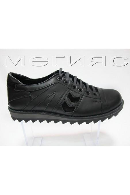 Мъжки обувки Carcino 2660 черни естествена кожа