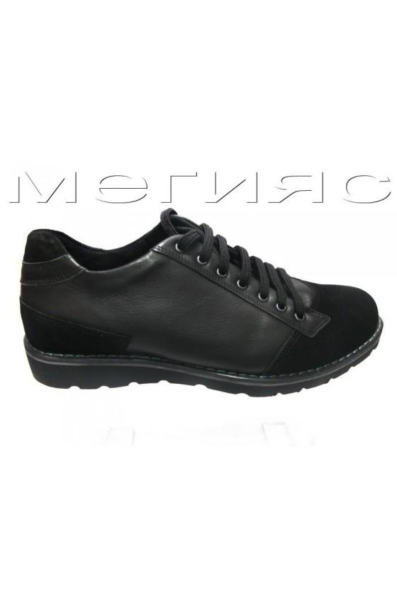 Мъжки обувки Carcino 2656 черни естествена кожа