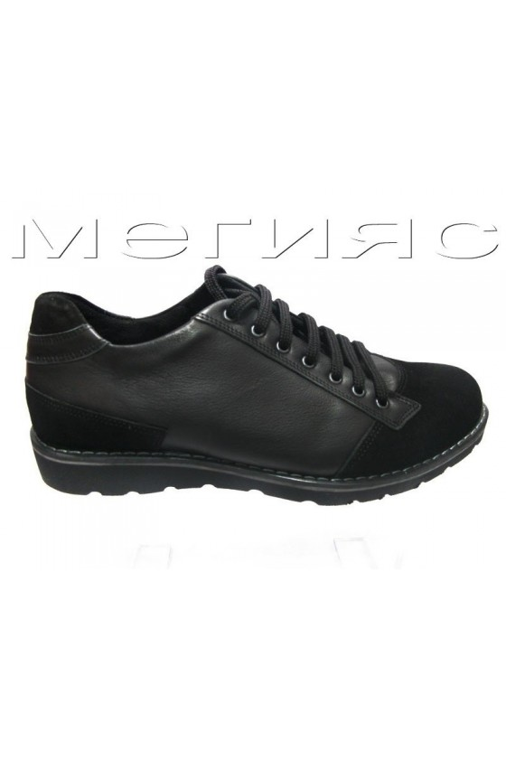 Мъжки обувки Carcino 2656 black estestvena koja