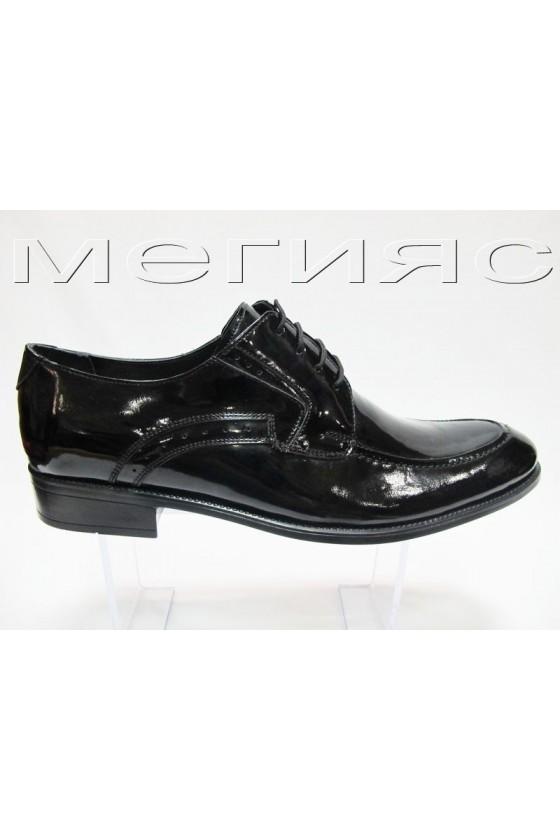 Мъжки обувки Фантазия XXL 301 лак черни естествена кожа