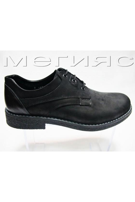 Мъжки обувки Фантазия 406 черни набук естествена кожа