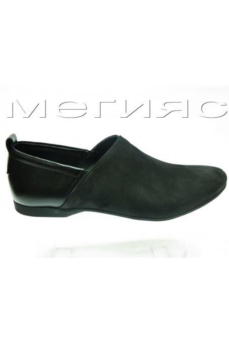 Мъжки обувки Фантазия 51 черни кожа с набук