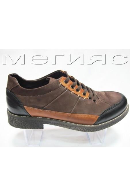 Мъжки обувки Фантазия 404 кафяви от естествена кожа