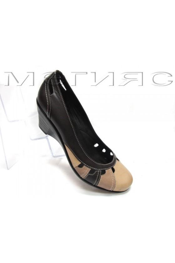 Дамски обувки 12325-2a brn-beige estestvena koja