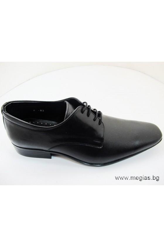 Мъжки обувки Фантазия 83 черни мат естествена кожа