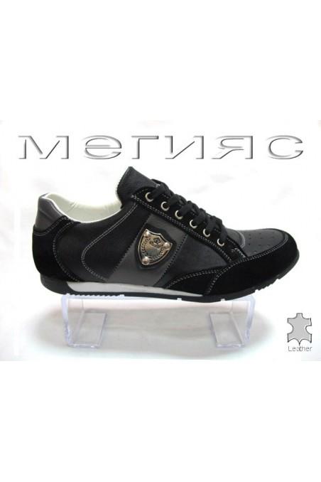 Мъжки обувки Sens.17-13 черни естествена кожа