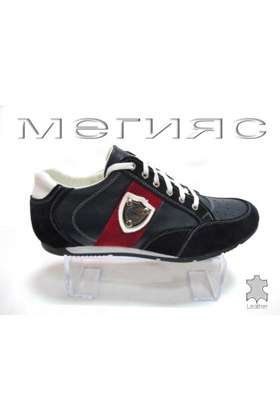Мъжки обувки Sens.17-16 тъмно сини естествена кожа
