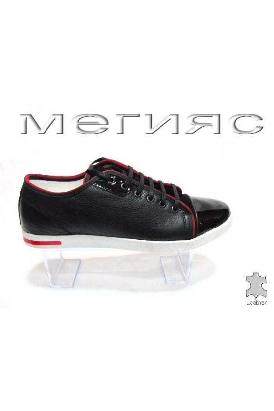 Мъжки обувки Sens.275 черни естествена кожа