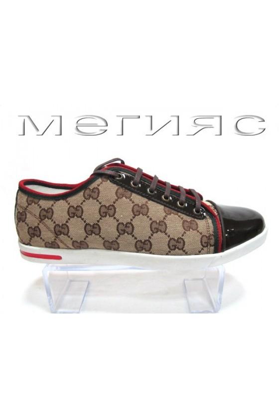 Мъжки обувки Sens.275 кафяви текстил