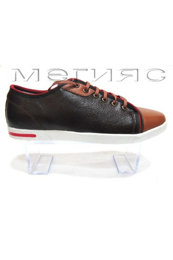 Мъжки обувки Sens.275 кафяви естествена кожа