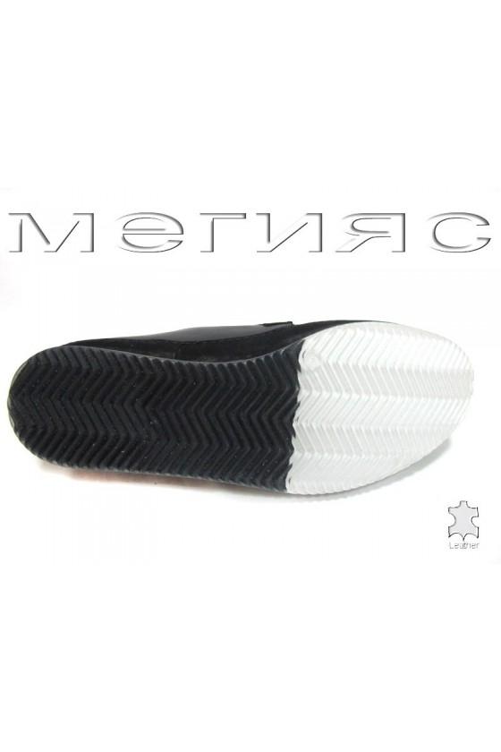 Мъжки обувки Пъфи 720-20-07 черни естествена кожа