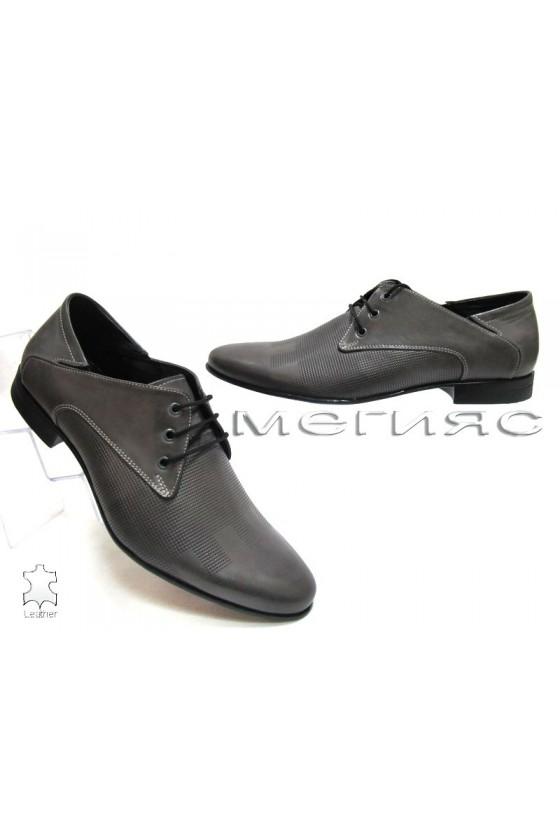 Мъжки обувки Фантазия 8061 сиви от естествена кожа