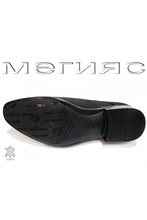 Мъжки обувки естествен набук черни
