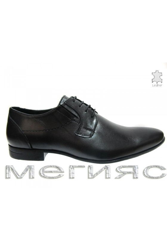 Мъжки обувки Фантазия 8066 черни естествена кожа