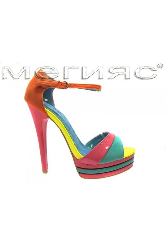 Дамски сандали Simba 008 green/orange