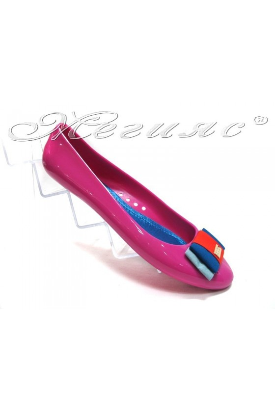 Women flat shoes Lisa 13-1 casual pink silicone