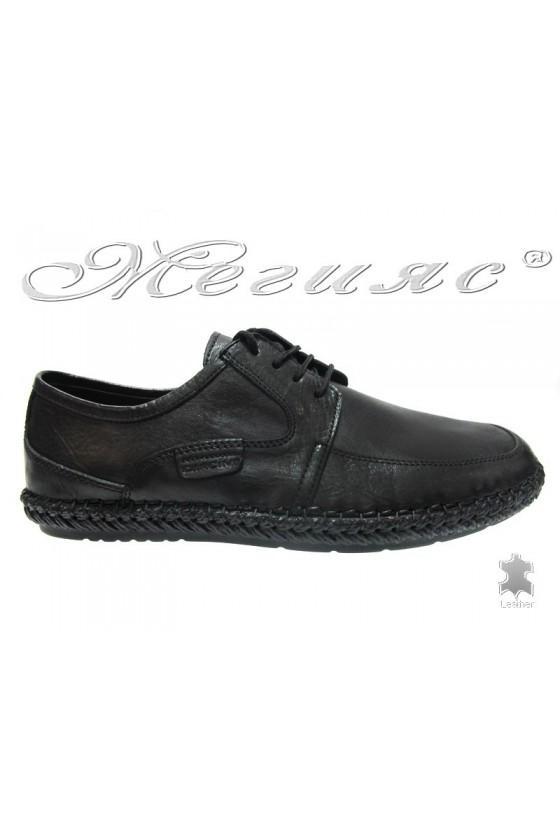 Мъжки обувки Carcino 3817 черни естествена кожа