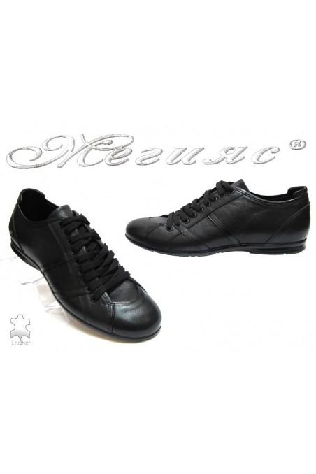 Мъжки обувки Фантазия 11304 черни естествена кожа