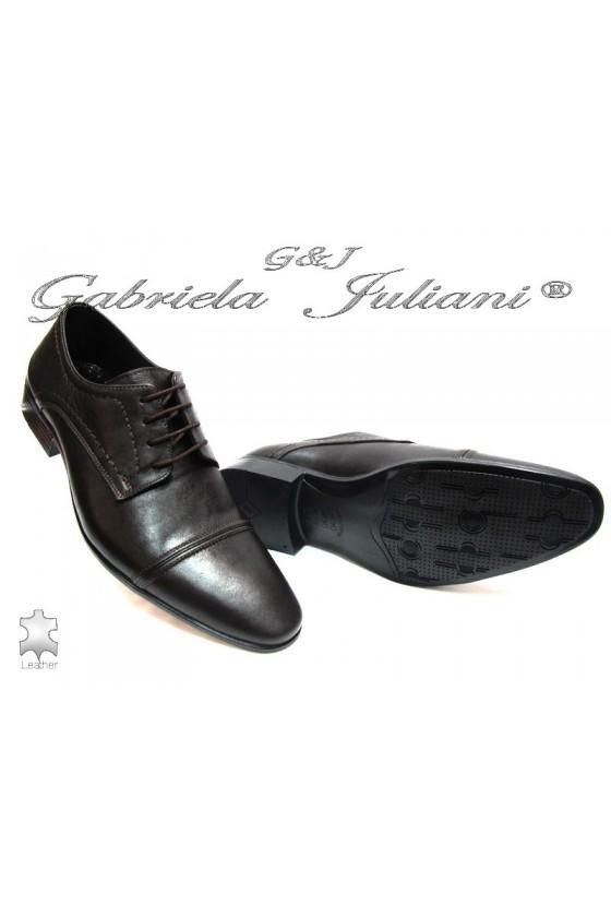 Мъжки обувки Фантазия P-09 кафяви естетсвена кожа