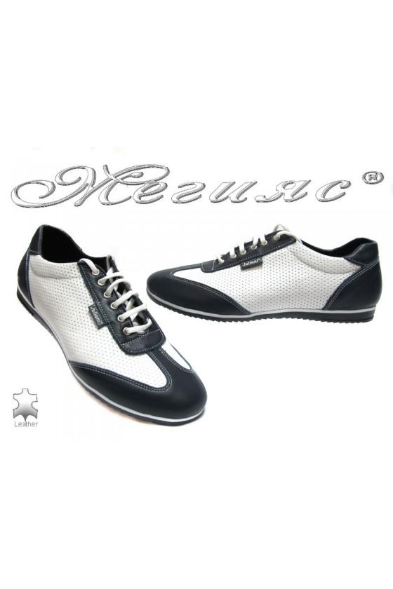 Мъжки обувки 1158 бели естествена кожа
