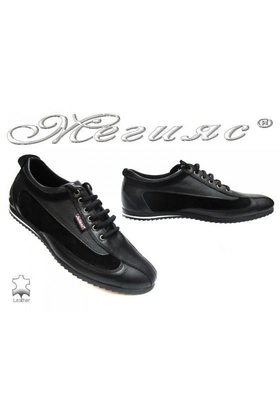 Мъжки обувки 313 черни естествена кожа