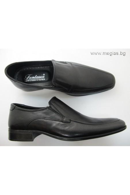 Мъжки обувки Фантазия 43 черни естествена кожа