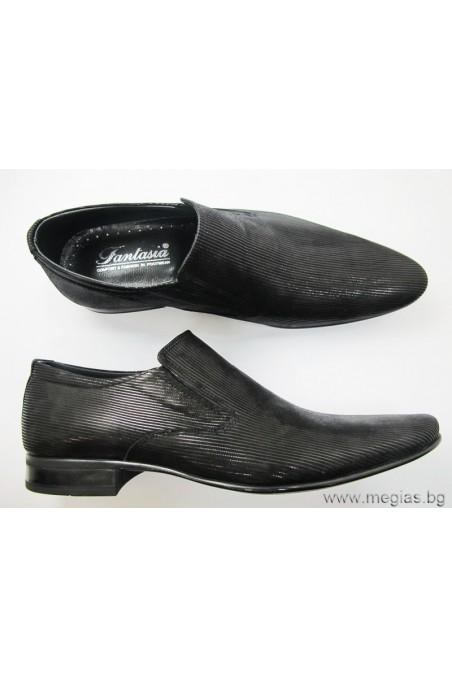 Мъжки обувки Фантазия 8092 черни кадифе