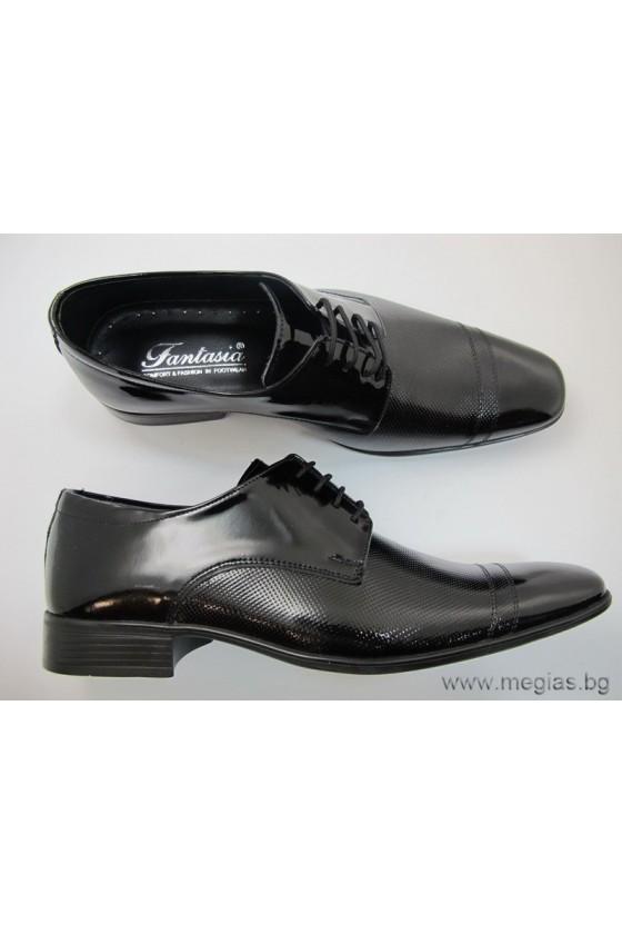Мъжки обувки Фантазия 4401 лак черни