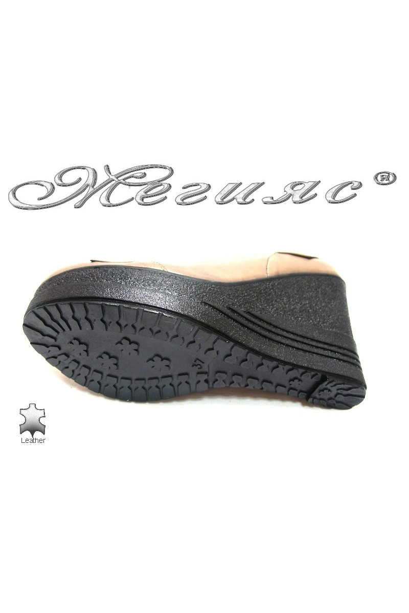 Lady shoes 157-313 beige