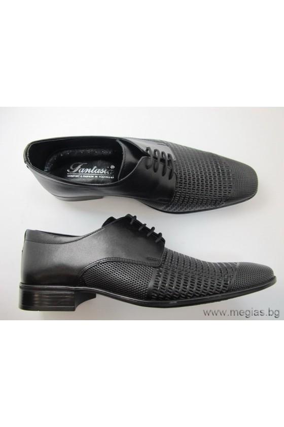 Мъжки обувки fant.41blk-estestvena koja