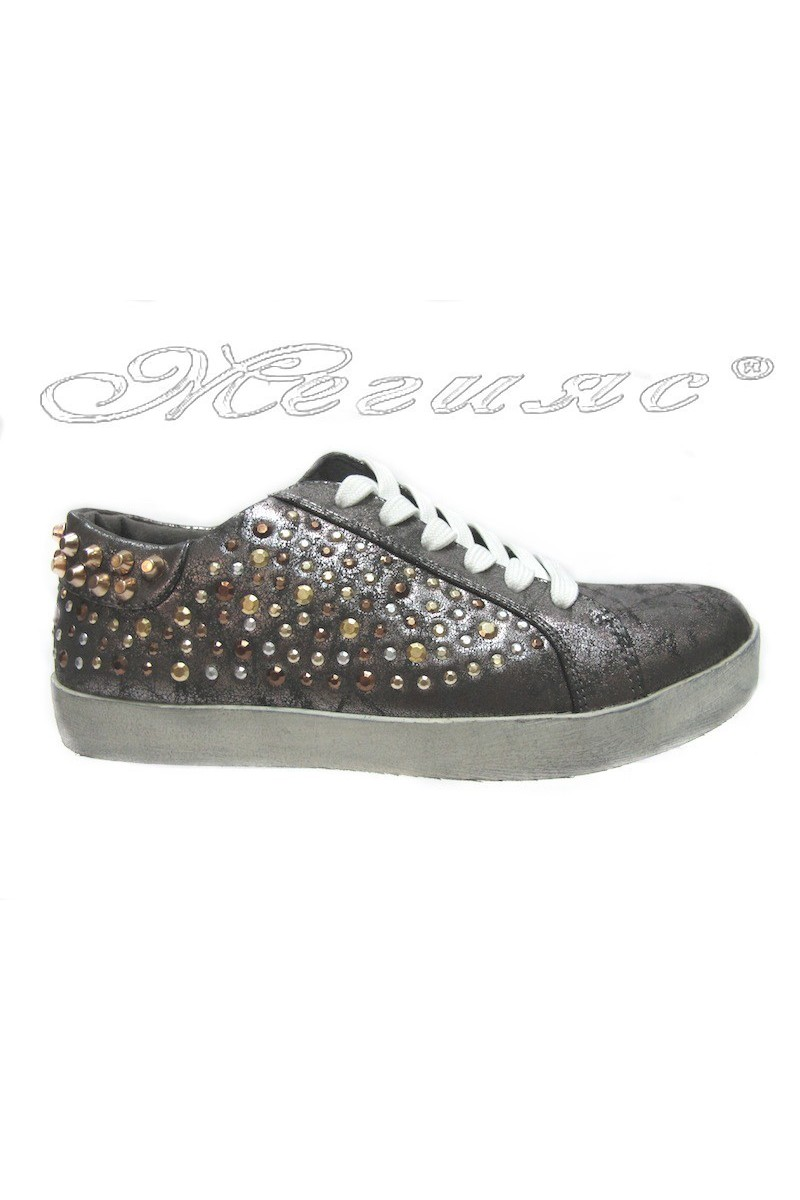 Lady shoes 25002 grey